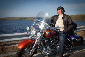 Chuck Furey on Bike -Horizontal