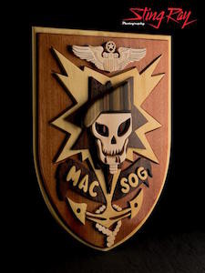 MACVSOG Wooden Crest Item #: 322047549680