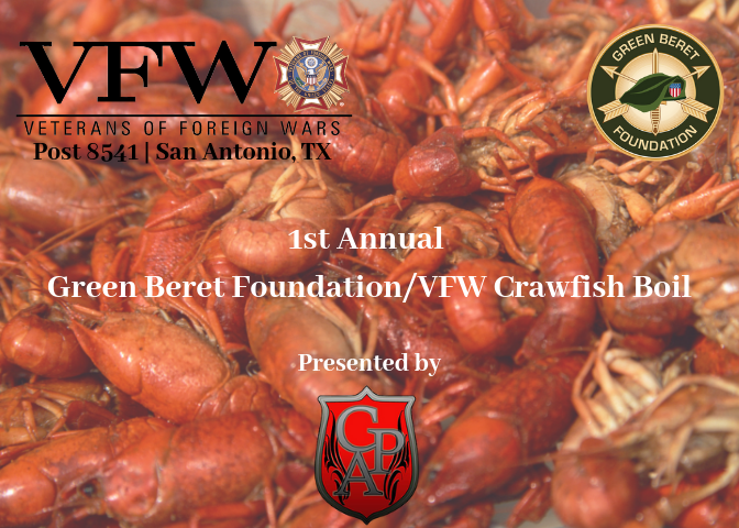1st Annual Green Beret Foundation_VFW Crawfish Boil