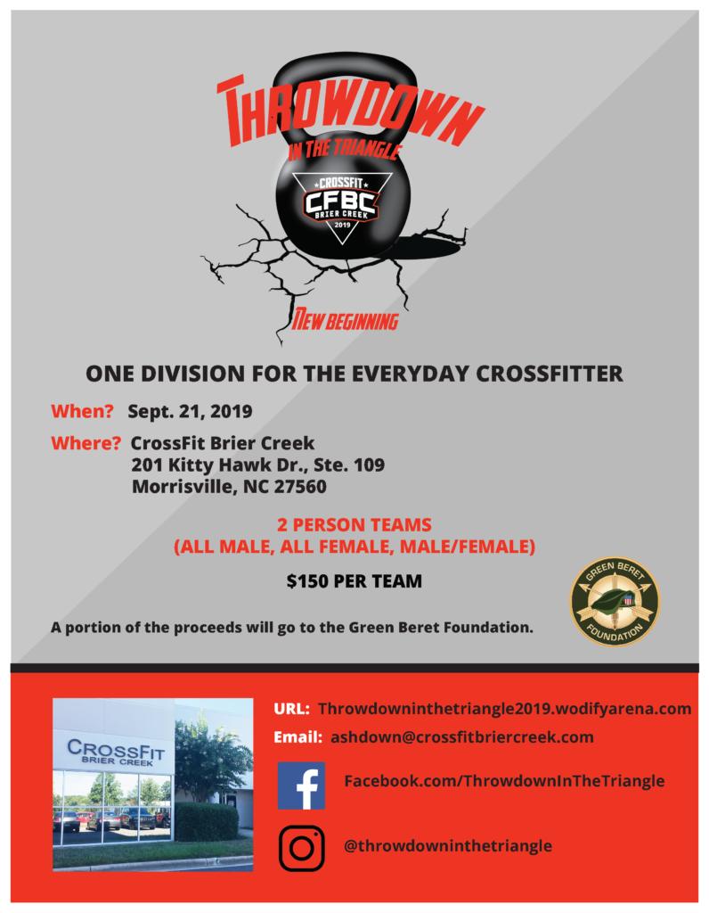 throwdown flyer